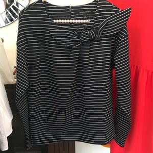 Banana Republic Striped Top with Bow NWOT M
